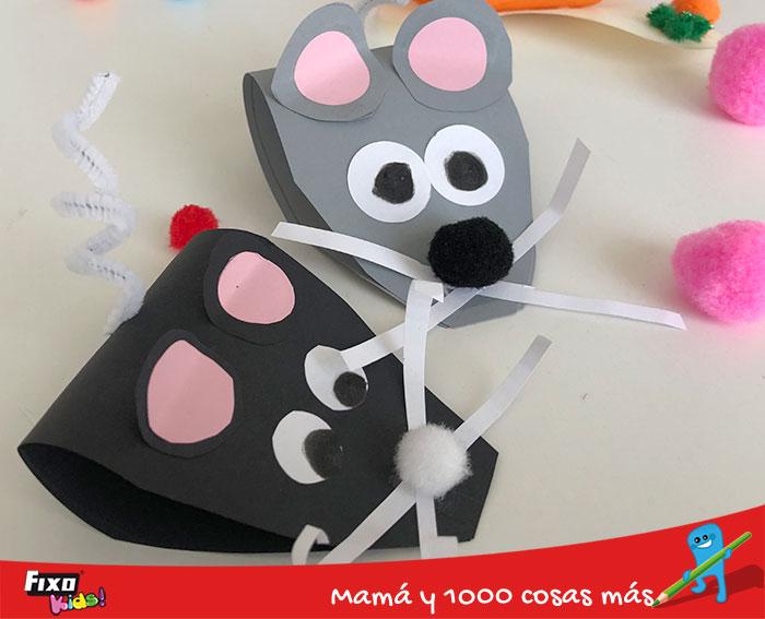 como hacer ratones de papel