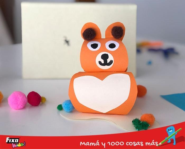 como hacer un oso de papel