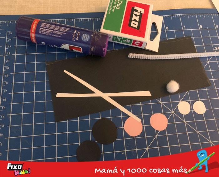 materiales para hacer ratones de papel