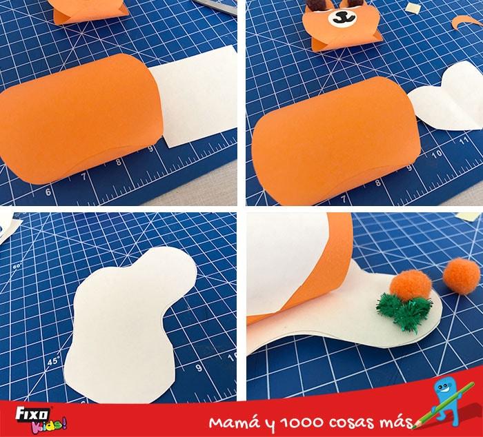paso a paso osos de papel