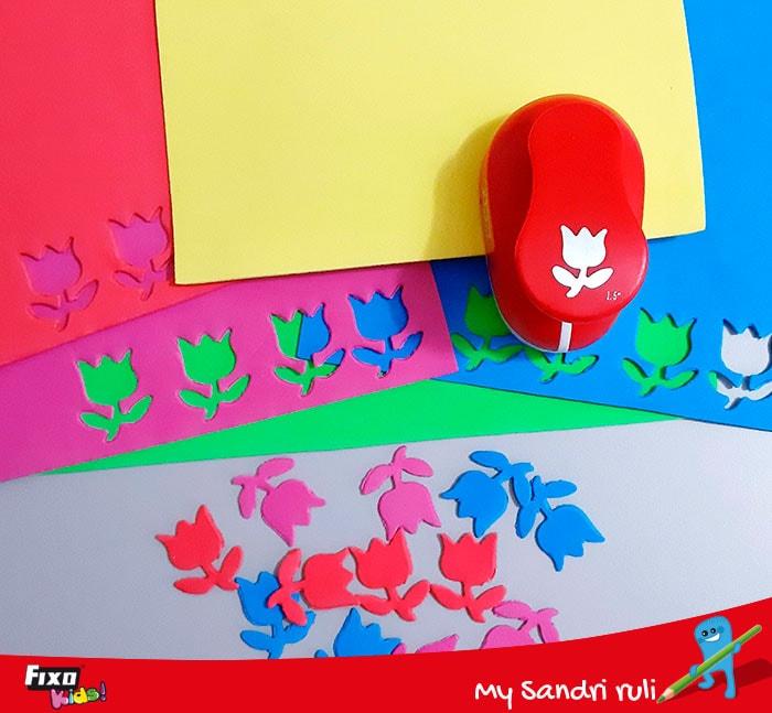 figuras troqueladas con goma eva de colores