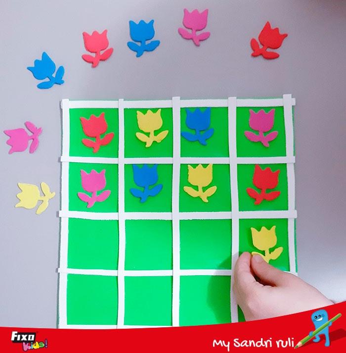 juegos para niños con foamy de colores