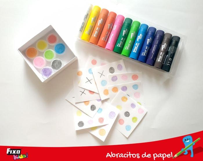 colores y cartones para aumentar la creatividad