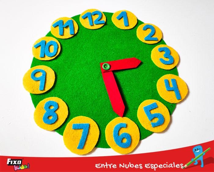 tutorial facil para hacer un reloj infantil