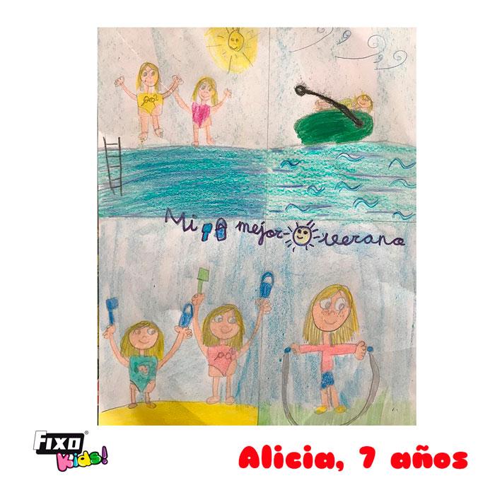 ganadora de primaria del concurso de dibujo verano fixo kids