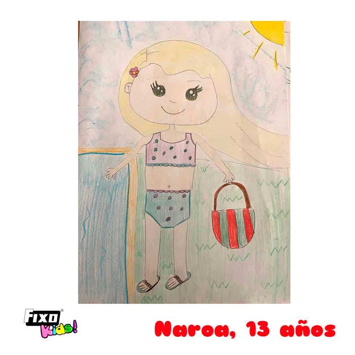 Ganadora de secundaria del concurso de dibujo verano fixo kids
