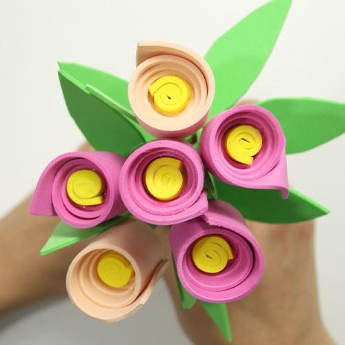flores foamy para niños