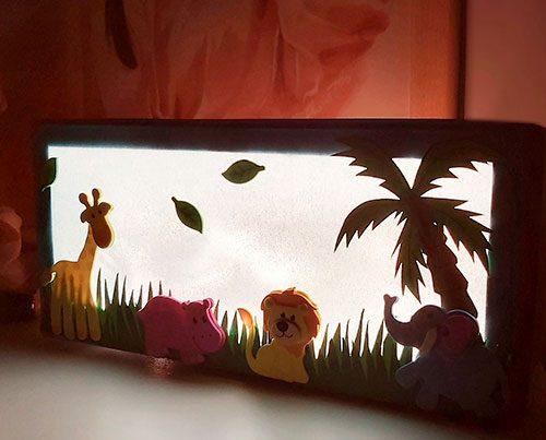 caja luz quitamiedos para niños tutorial
