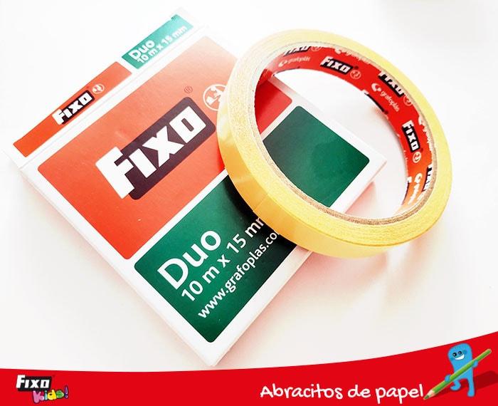 fixo duo cinta adhesiva doble cara