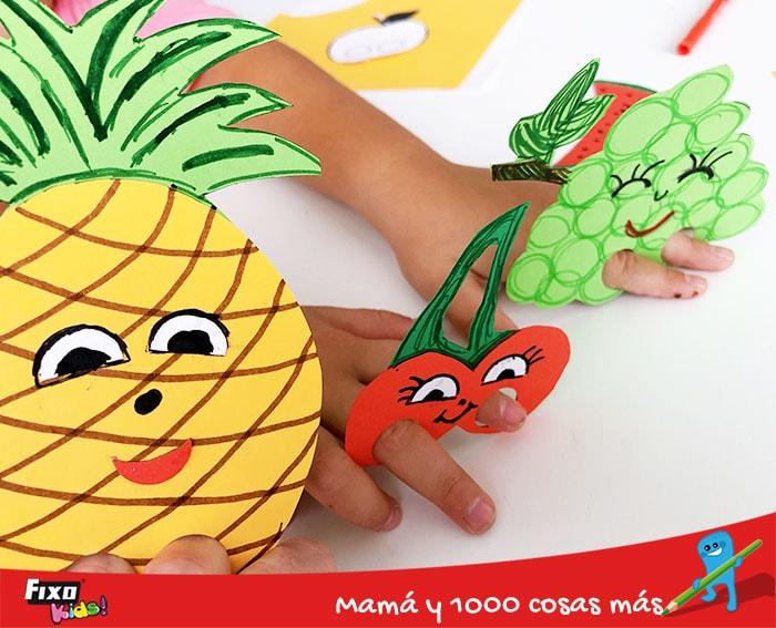 como hacer frutas de cartulinas