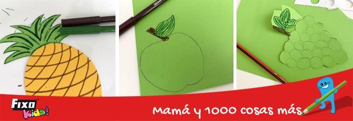 como dibujar detalles a frutas