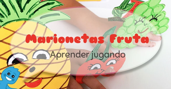como hacer marionetas de dedo con forma de fruta
