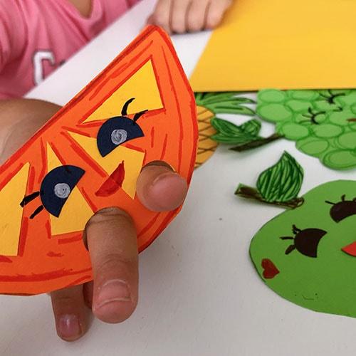 marionetas dedos frutas