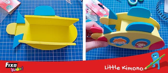 como hacer un lapicero con forma de submarino