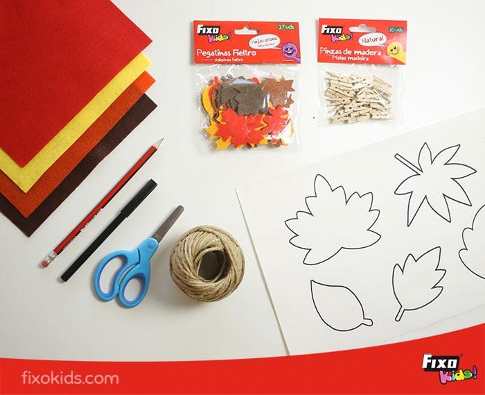 material de manualidades de otoño