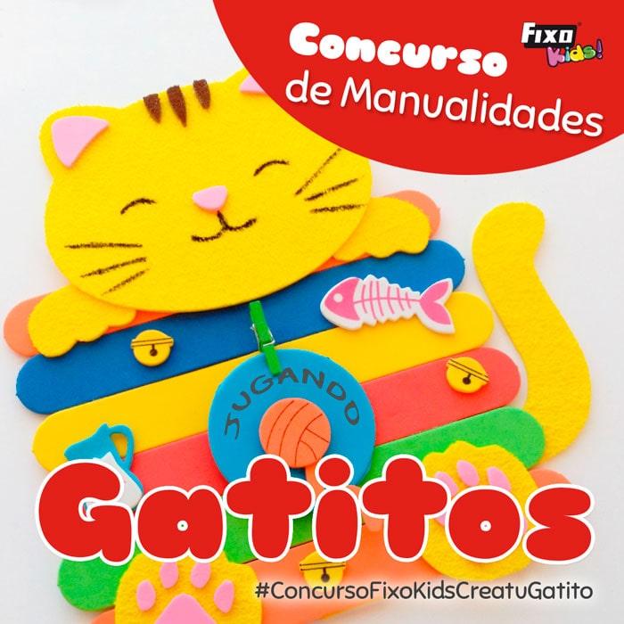 concurso de manualidades fixo kids crea tu gatito