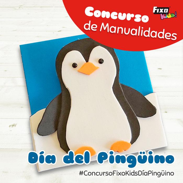 concurso de manualidades fixo kids pinguinos