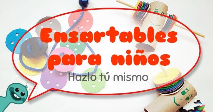tutorial ensartables para niños hechos en casa