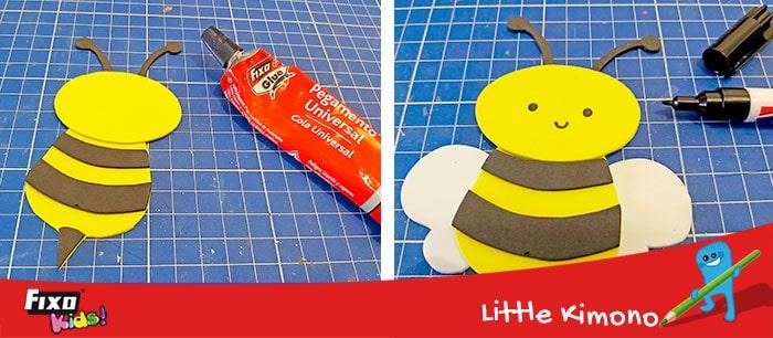 como hacer una abeja de manualidades