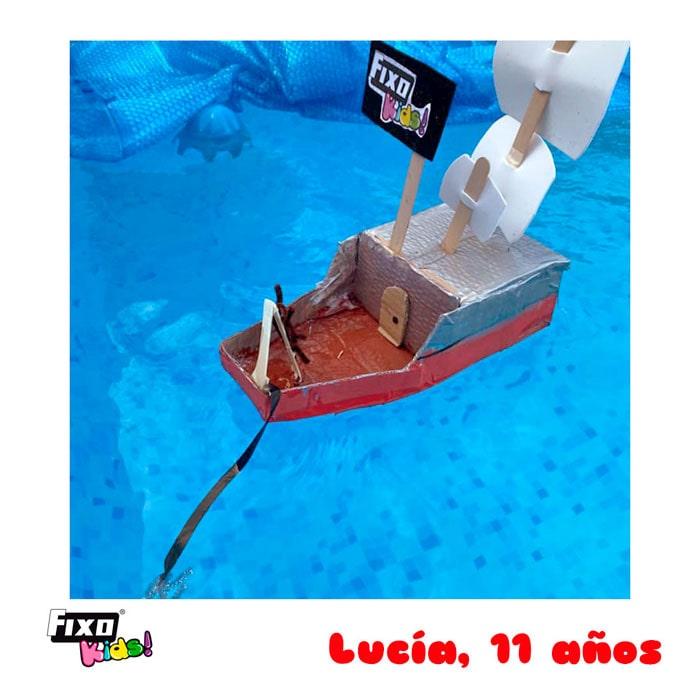 ganadora de primaria concurso fixo kids barcos